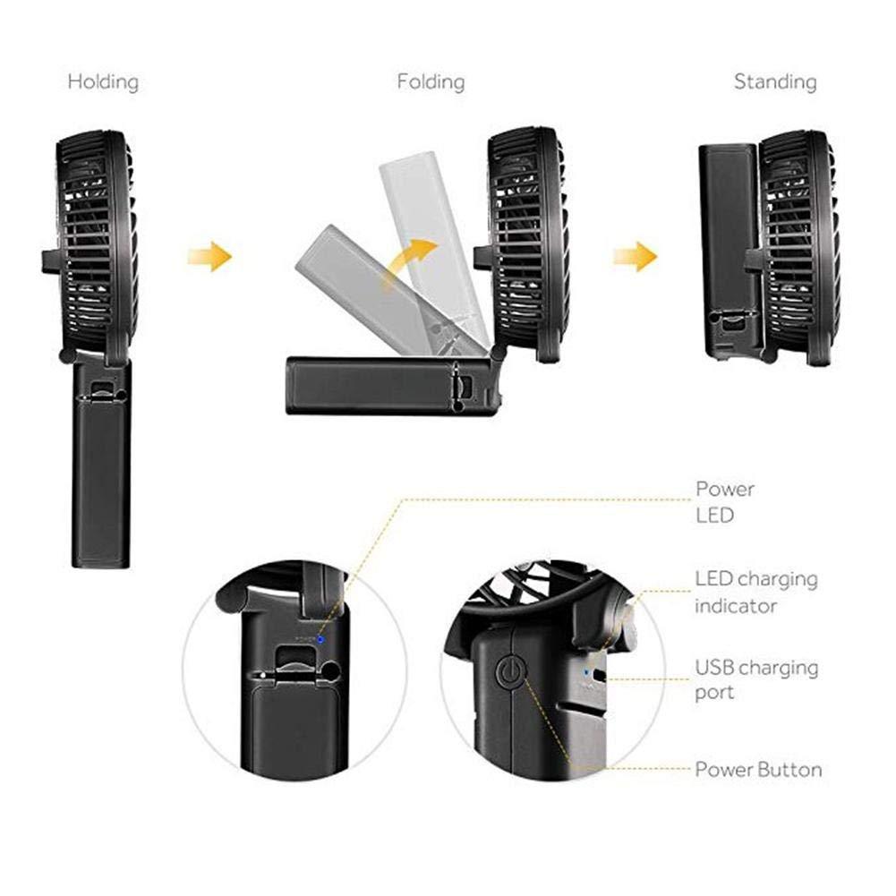 Refroidisseur de Petit Ventilateur portatif Jinclonder Ventilateur Silencieux Tenu dans la Main dUSB pour l/ét/é