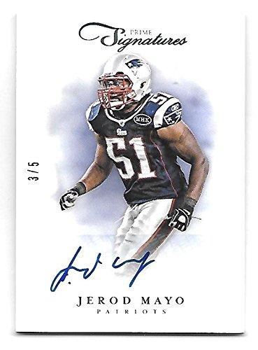 JEROD MAYO 2012 Panini Prime Signatures auto /5 New England Patriots (Mayo Autograph)