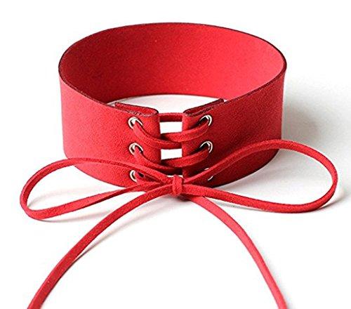Daesar Womens Choker Necklaces Velvet 4CM String Punk Red Choker Necklace 16 Styles ()