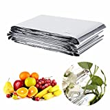 Laz Tipa 1Pc 210 x 120cm Reflective Film Garden Agriculure Greenhouse Grow Light Silver Plant Sun Reflective Garden Accessories