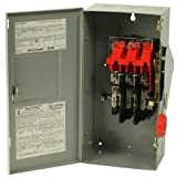 Eaton DH362FGK 60A,3P,600V/250DC, HD Fusible Safety Switch, NEMA 1 by Eaton