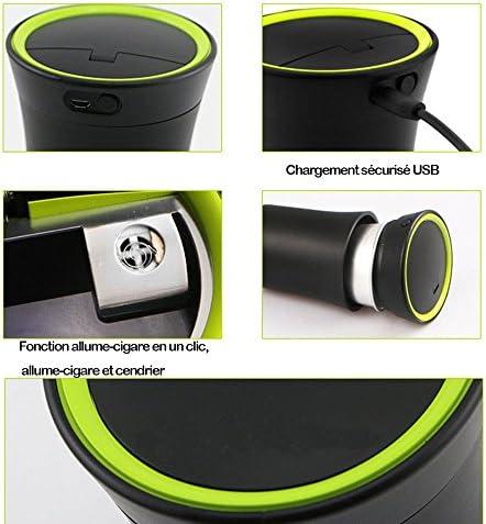 Auto Zigarette Aschenbecher Portable Auto Zigarettenanzünder Mit Blauen Licht Rauchfreien Usb Ladekabel Für Die Meisten Auto Cup Holder Auto