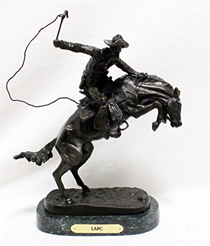 Frederic Remington Solid Bronze Bronco Buster Statue Sculpture - Baby - Bronco Statue