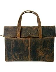 Devil Hunter London genuine buffalo leather messenger bag in vintage style
