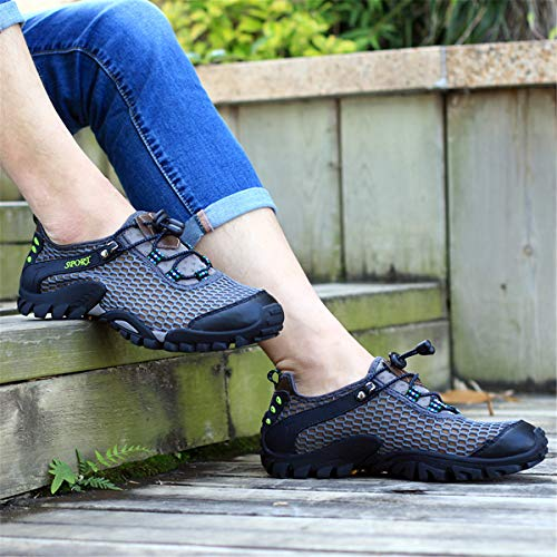 Estate Donna Sandali da Azer Man Walking Grigio Uomo Acqua Sportivi Viken Wading Sandals Outdoors Breathable Hiking All'aperto Antiscivolo Shoes UK Suola Sneakers Corsa k05 Scarpe Holes WfqFxW08