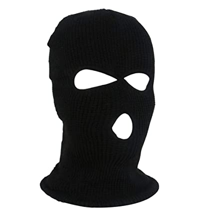 97d75337dc9 Amazon.com   Per Full Face Winter Warm Mask with 3 Holes Breathable Knitted  Balaclava Hat Thermal Ski Cycling Mask for Men Women   Sports   Outdoors