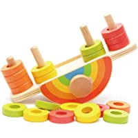 MagiDeal Wooden Educational Montessori Toys for Baby Toddler - Rainbow Balance Toy Color Sorter