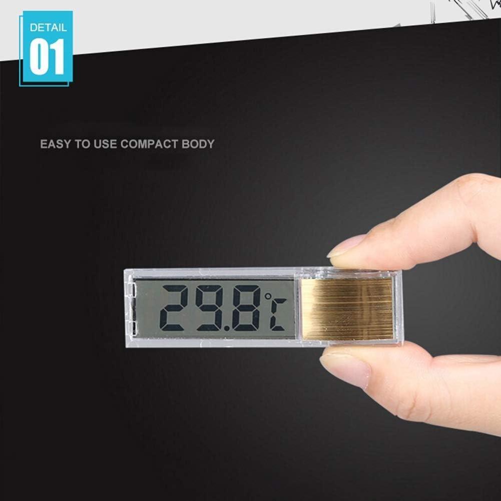 Saniswink Thermom/ètre Daquarium De Petite Taille Et L/éger Thermom/ètre /à Thermom/ètre Coll/é pour Aquarium Daquarium 3D LCD Num/érique Argent