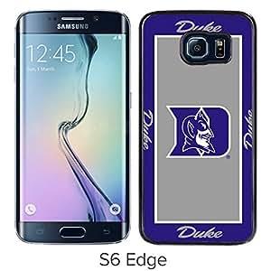 NCAA Atlantic Coast Conference ACC Footballl Duke Blue Devils 3 Black Case with Fashion and Luxurious Design for Custom Samsung Galaxy S6 Edge