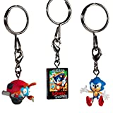 Set Of 4: Sonic The Hedgehog Blind Box Vinyl Keychain Series By Sega X Kidrobot