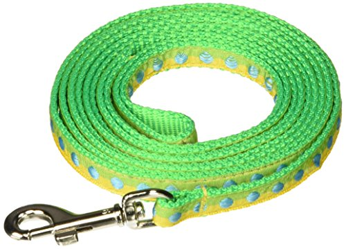 OmniPet Leather Brothers Pocket Pups Nylon Dotted Ribbon Leads, Yellow ()