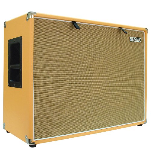 Seismic Audio - 212 GUITAR SPEAKER CABINET EMPTY - 7 Ply Birch - 12'' Speakerless Cab - 2x12 - Orange Tolex - Wheat Cloth Grill - Front or Rear Loading Options by Seismic Audio