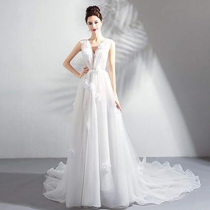 ab40228fb TY-ER Tulle Princesa de la Boda de Sueño Vestido sin Espalda con Cuello en