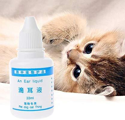 A0127 Mascota Gato Oreja Gotas Perro oído inflamación Anti ...