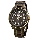 Bulova Men's Quartz Stainless Steel Dress Watch (Model: 98D128)