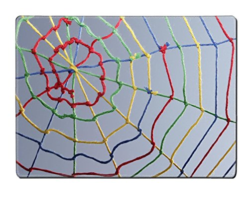 Liili Placemat Natural Rubber Material IMAGE ID 9507512 Colorful ribbons create a spider web many links and cross each other