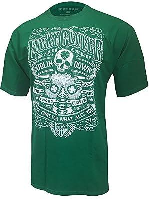 Lucky Clover St Patricks Day Green Saint Pattys Paddys Shamrock Pub T-Shirt