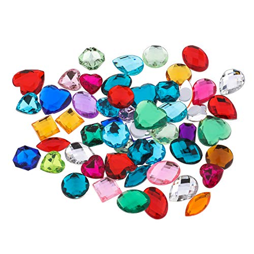 Self Adhesive Craft Jewels Jumbo Bling Crystal Gem Stickers Assorted Shapes Colors Rhinestone Stickers for Arts & Crafts Projects Pack of 110 ()