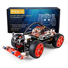 Introduction The Pi car-s is a cool Smart car that can work with Raspberry Pi model B+, 2 model B and 3 model B+ 3 model B.with three sensor modules including Ultrasonic obstacle avoidance, light follower, and line follower, you can better le...