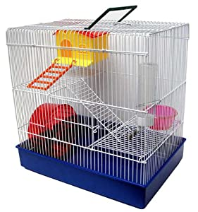 Amazon.com : YML H820 3-Level Hamster Cage, Blue : Small Animal Houses : Pet Supplies