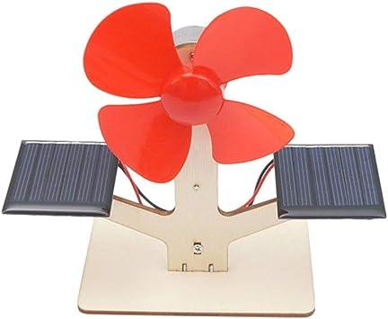 NUOBESTY DIY Ventilador Solar Juguete Ensamblaje de Madera ...