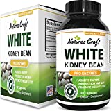 Natures Craft's Pure White Kidney Bean Extract Natural Weight Loss Pills Carb Blocker Fat Burner Supplement Appetite Suppressant USA Made 60 Capsules