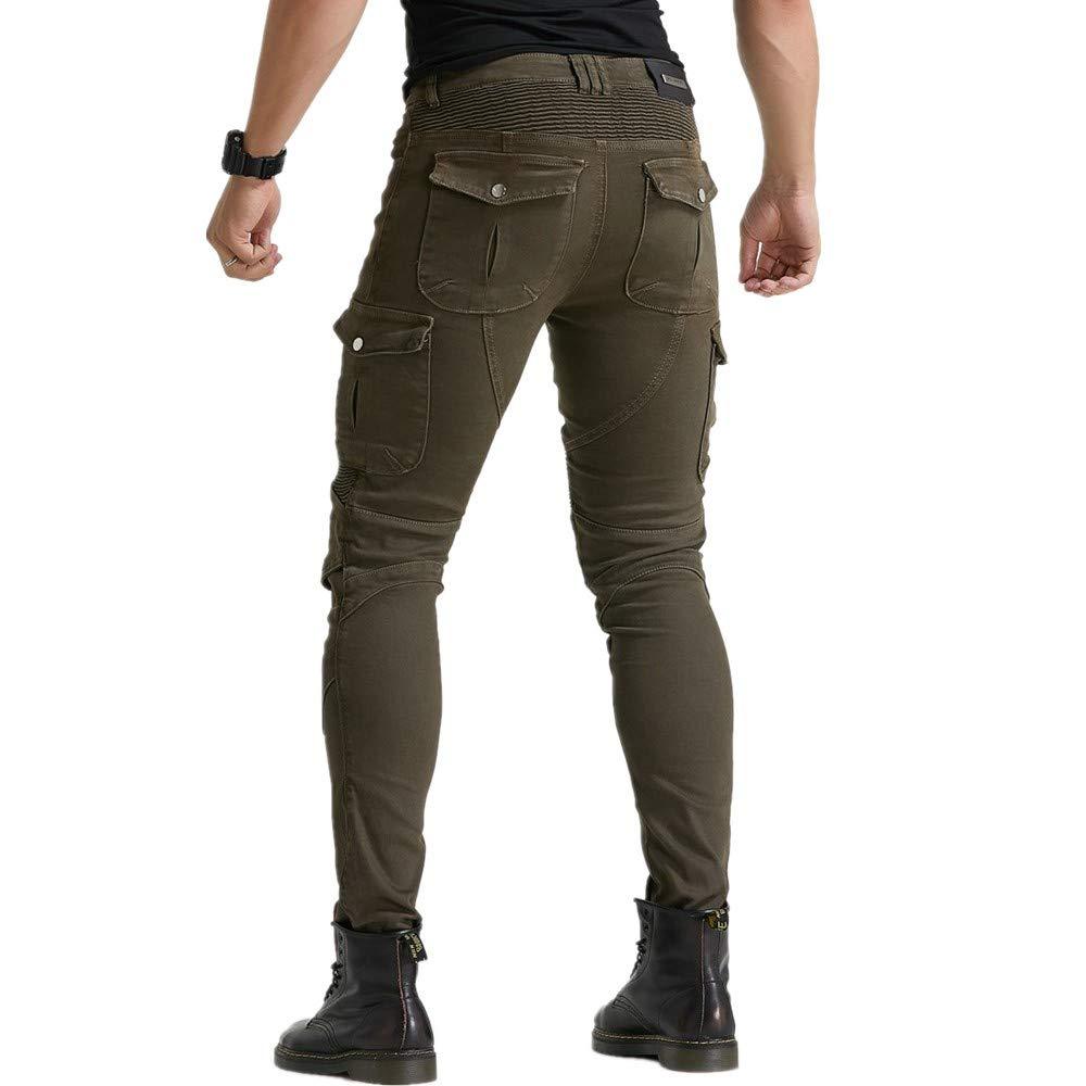 Pantaloni Da Moto Invernali Da Uomo Pantaloni Da Corsa Caldi E Spessi Da Motocross Versione Aggiornata Del Pad Protettivo Rimovibile Nero,XL Pantaloni Da Moto Anti-caduta