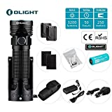 Olight r50 pro seeker le police tactical flashlight military law enforcement patrol light cool white led 3200 lumens rechargeable weapon light holster 4500mAh lithium battery olight patch