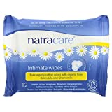 (2 Pack) - Natracare - Org Cotton Intimate Wipes | 12wipes | 2 PACK BUNDLE