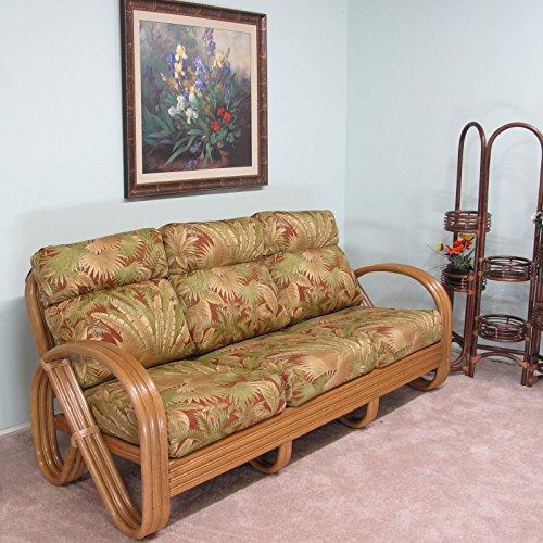 Premium Rattan Kailua Sofa Made to Order in the USA 100% Assembled by urbandesignfurnishings.com