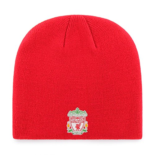 (International Soccer Liverpool EPL OTS Beanie Knit Cap, Red, One Size)