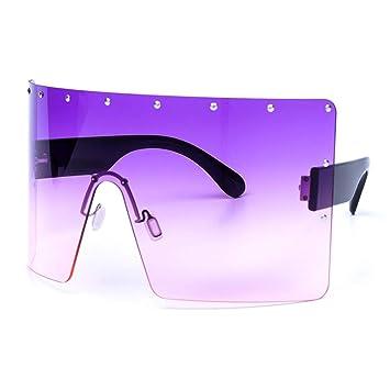 YLNJYJ Mujeres De Gran Tamaño Gafas De Sol De Gradiente ...