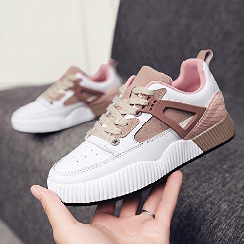 Plate Schuhe 38 Jogging Freizeitschuhe Farbe Sportschuhe Flat Damenschuhe Spring Damenschuhe HWF größe Pink YxnRfSXwqn