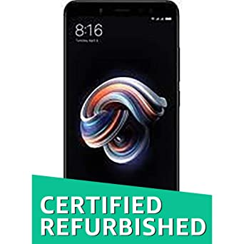 Renewed  Redmi Note 5 Pro  Black, 64  GB   6  GB RAM  Smartphones