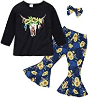 Edjude Infant Toddler Baby Girls Sweatshirt Clothes Long Sleeves T-Shirt Tops Pants Two Pieces Outfits Set