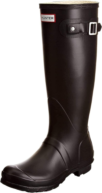 HUNTER Men's Original Tall Rain Boots Black 9 M US