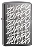 zippo black ice pocket lighter - Zippo Script Black Ice Pocket Lighter