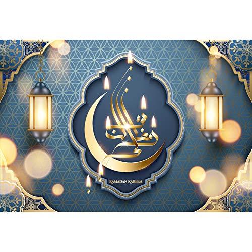 Baocicco 5x4ft Eid Mubarak Backdrop Muslim Vintage Lanterns Middle East Muslim Decor Style Photography Background Eid Mubarak Holiday Islamic Pray Children Adults Portrait Studio