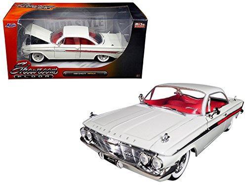 StarSun Depot 1961 Chevrolet Impala White Showroom Floor 1/24 Model Car by Jada (Showroom Floor Ground)