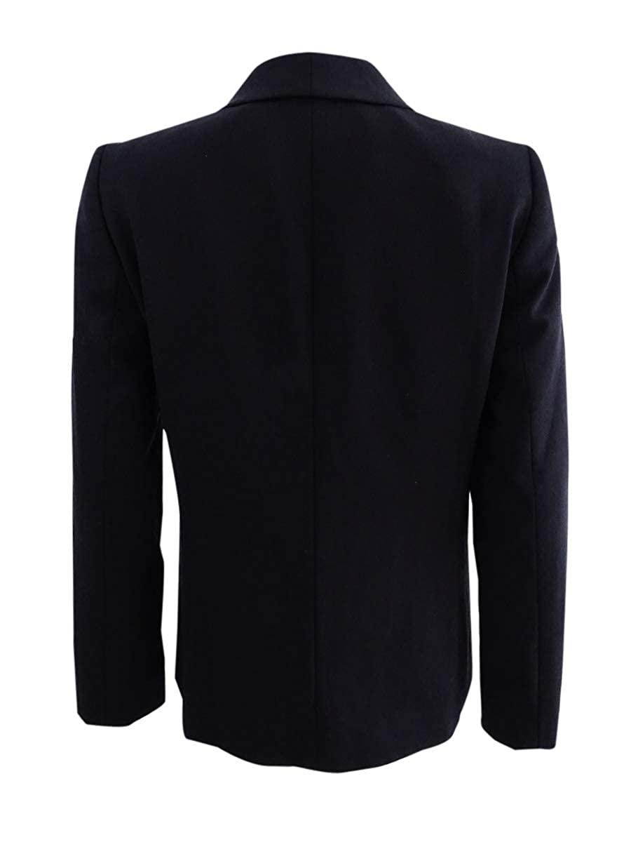 Tahari ASL Womens Professional Shawl Collar Blazer Black 8