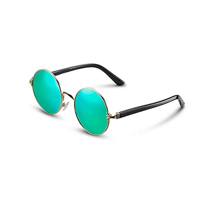 7fcaa95687 GAOYANG Gafas De Sol Polarizadas Marco Redondo Masculino Príncipe Espejo  Vintage Gafas De Sol Mujer Influx Square Face Star con Gafas De Sol (Color  : C): ...