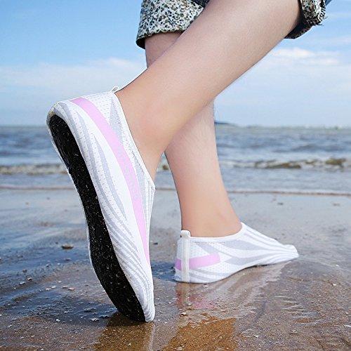 Scarpe da Spiaggia da Nero Spiaggia Aperta Spiaggia Blu da morbide e Nuoto Scarpe all'Aria quarantaquattro da Scarpe HnYvXgY