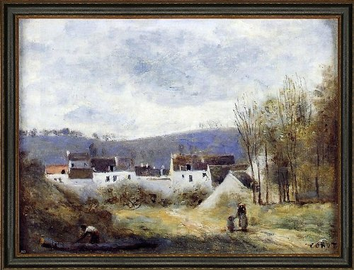 Jean-Baptiste-Camille Corot Village at the Foot of a Hill Ile-de-France - 18.5