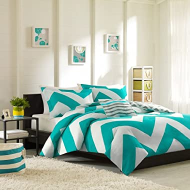 Mi-Zone Libra Duvet Cover Set, Blue, Full/Queen