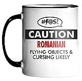ROMANIAN Caution Cursing Funny 11oz Mug
