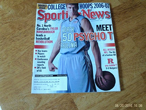 Tyler Hansbrough North Carolina (Sporting News magazine, November 24, 2006 Tyler Hansbrough North Carolina cover of Annual College Hoops 2006-7 Double Issue)