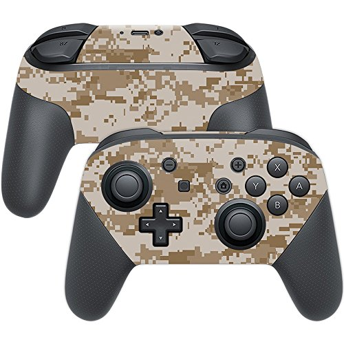 MightySkins Skin for Nintendo Switch Pro Controller - Desert Camo | Protective, Durable, and Unique Vinyl Decal wrap Cover | Easy to Apply, Remove, and Change Styles | Made in The USA
