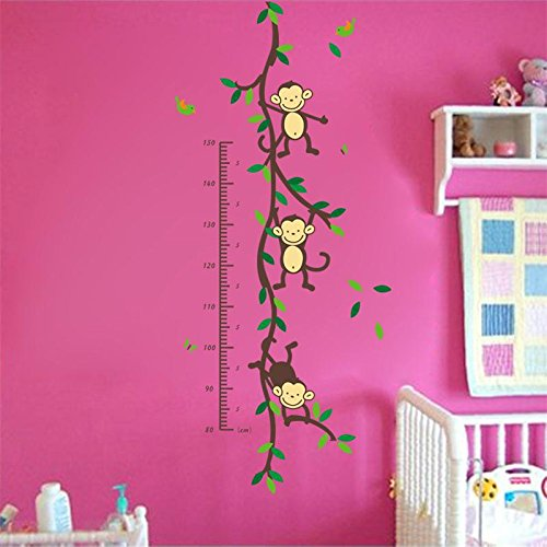 JD Million shop 150cm Cartoon tree Monky children baby height growth chart measure wall stickers for kids room nursery decal birthday - Garden Stores Jersey Outlet