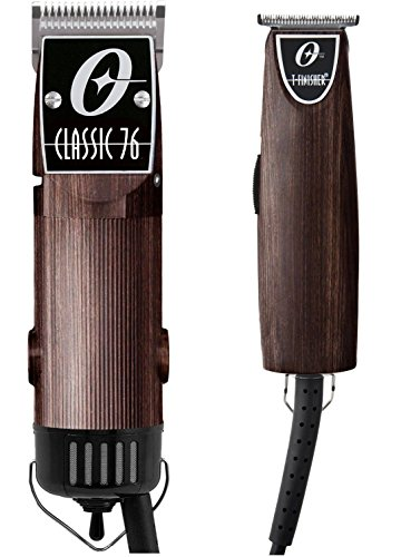 Oster Classic 76 Hair Clipper + T-finisher Trimmer Limited Edition Woodgrain Pro Barber Wood Color