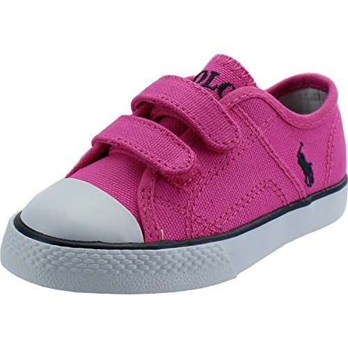 Polo Ralph Lauren Dyland EZ T Fuchsia Textile Baby Trainers Fuchsia